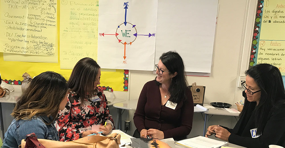 Teachers at Cognitive Coaching professional development