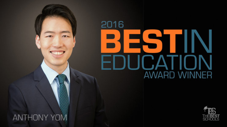 TEP & PLI Grad Anthony Yom Wins the Escalante-Gradillas Prize for Best in Education