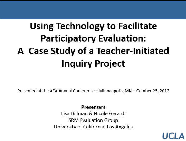 Using Technology to Facilitate Participatory Evaluation: A Case Study of a Teacher-Initiated Inquiry Project