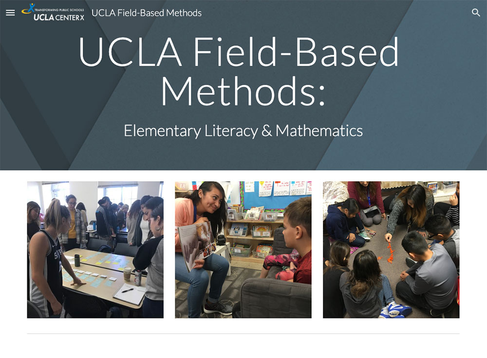 Screenshot of UCLA Field-Based Methods web site