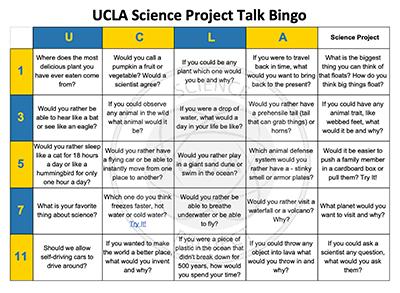 Family Science Bingo