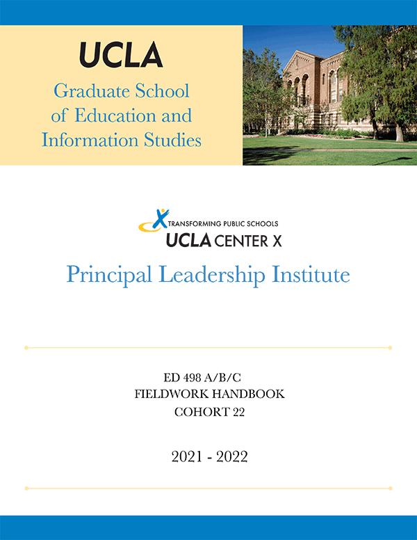 Principal Leadership Institute Fieldwork handbook cover