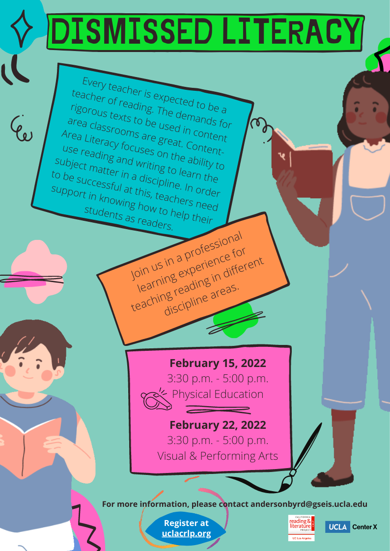 Join us in a professional learning experience for teaching reading in different discipline areas.