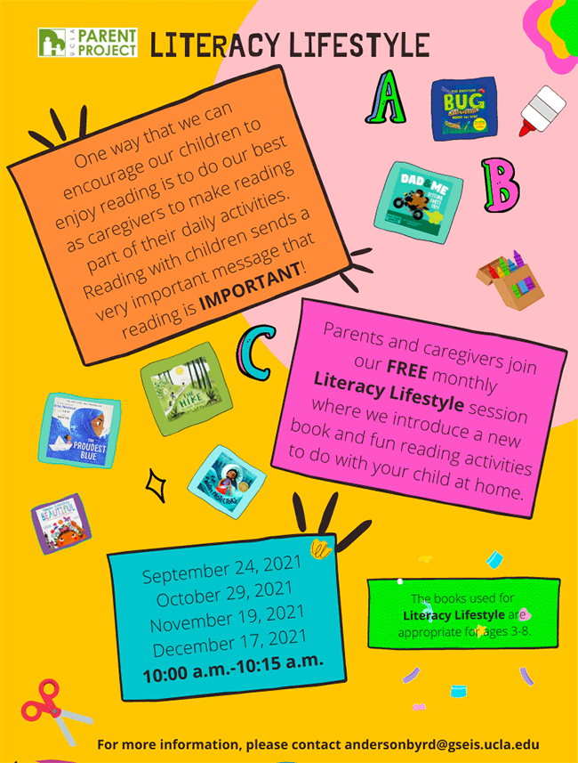 Parents and caregivers join our FREE monthly Literacy Lifestyle session where we introduce a new book and fun reading activities to do with your child at home.